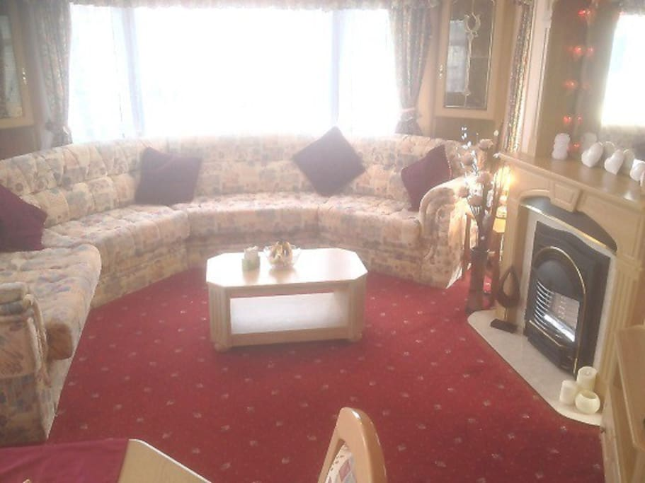 Spacious lounge with double sofa pull out if required.