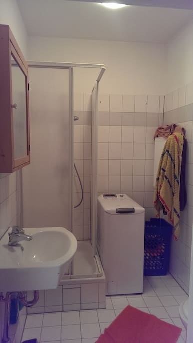 little bathroom with shower