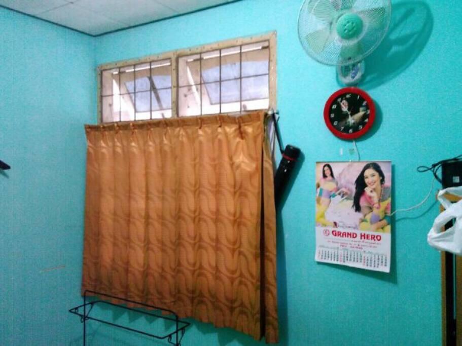 Clock, Fan, window