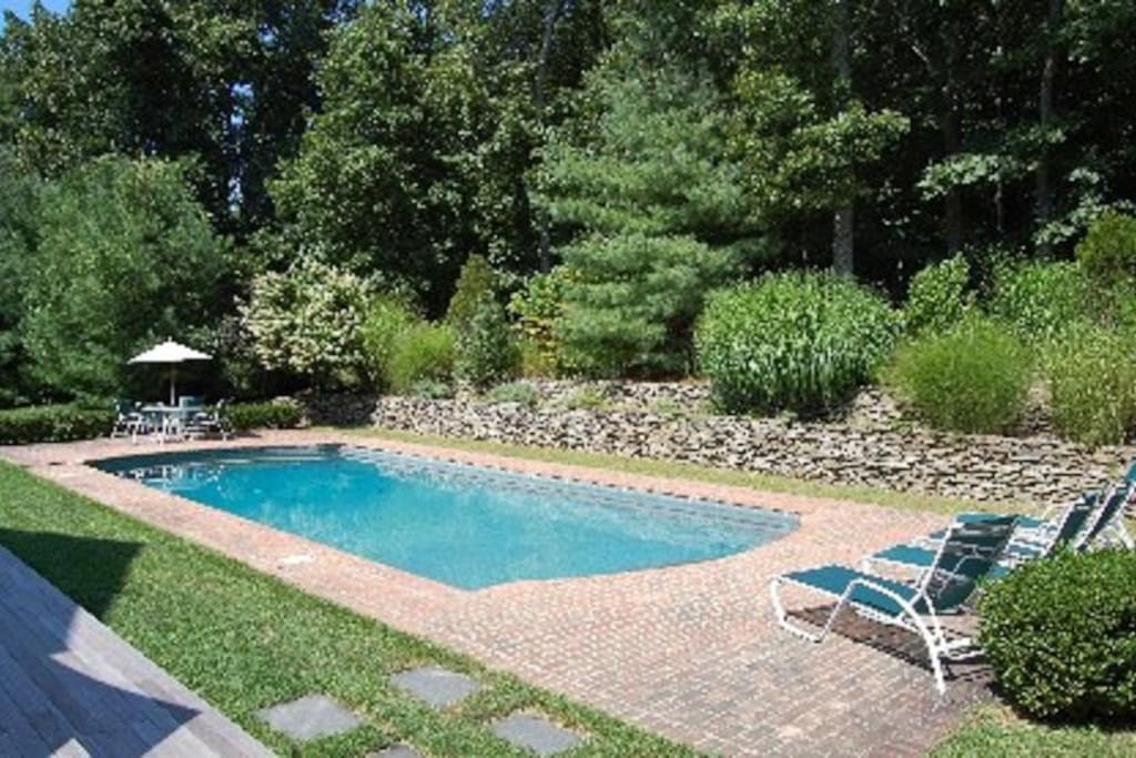 Heated Pool by Large Deck.