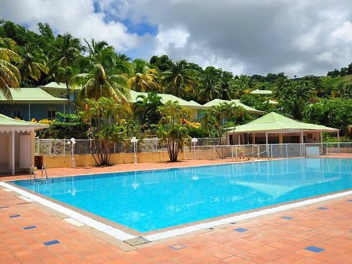 Splendide villa bleue marine