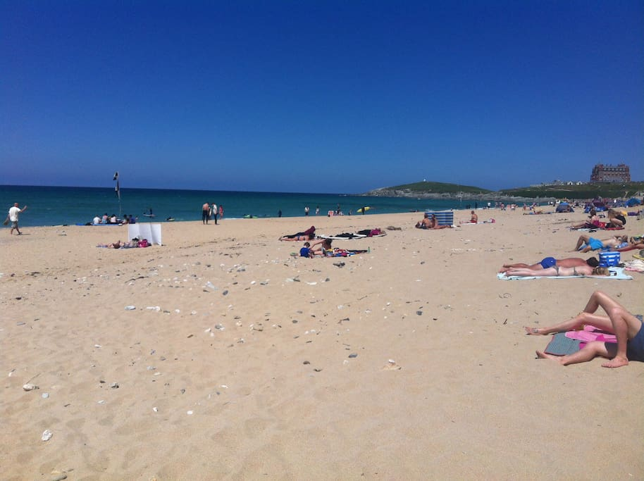 World famous Fistral beach - 5 mins walk from property