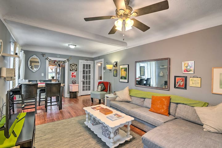 NEW! Eclectic Abode w/ Sunroom - 2 Mi to Downtown