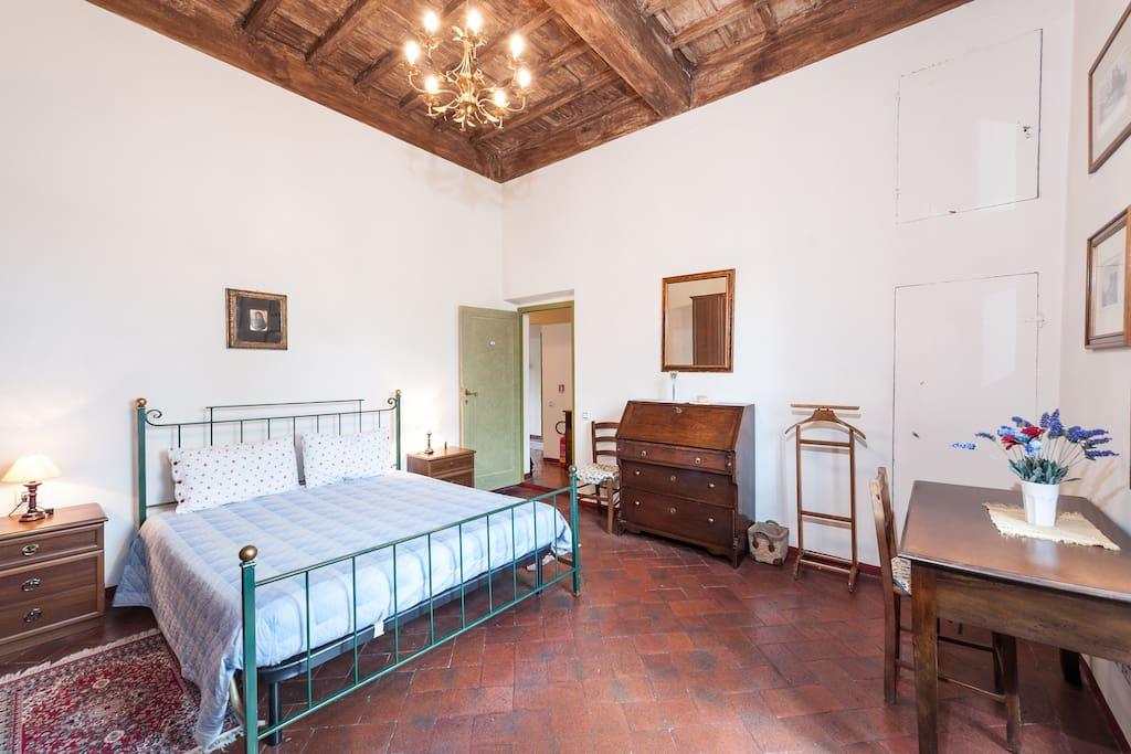 Flat in Villa Nobili the bedroom