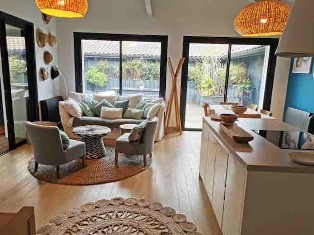 Maison typique Bassin au cœur du Cap ferret