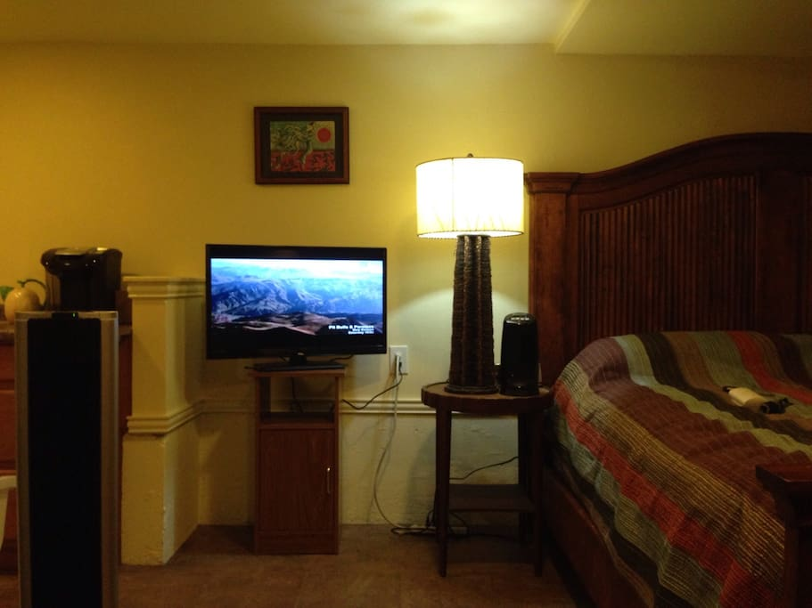 New flatscreen and cable with wifi just added