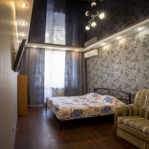 Шикарная квартира для 1-4 гостей.