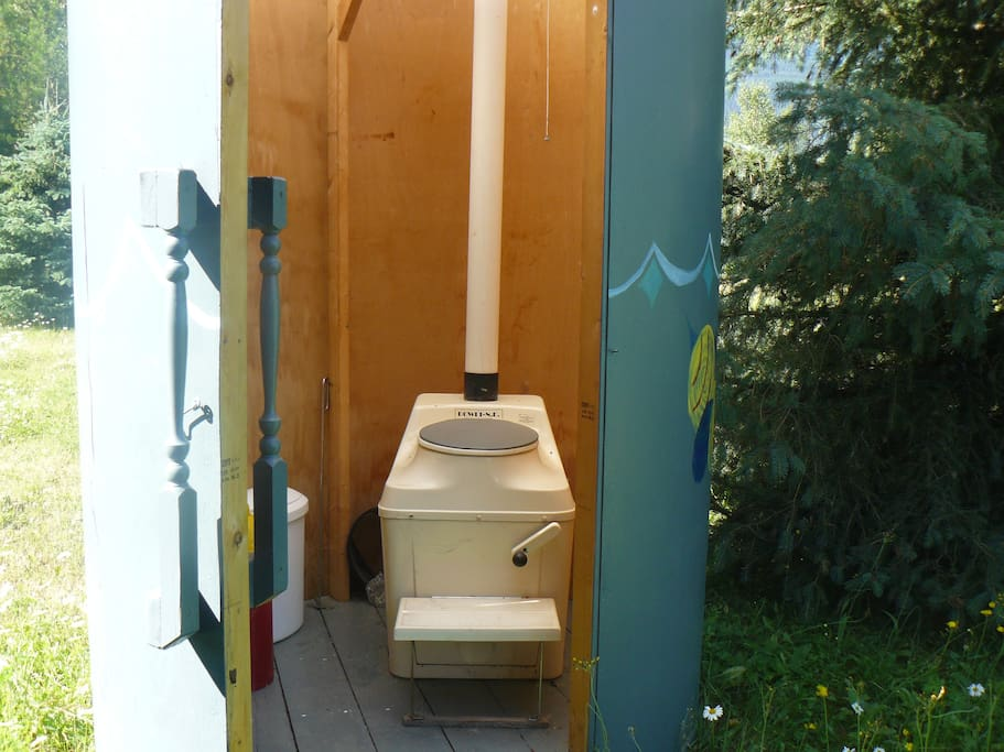 composting toilet is close by