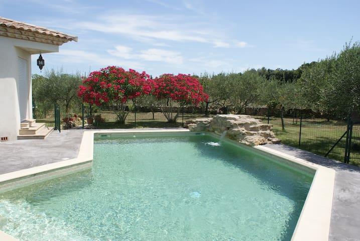 Belle villa provençale avec piscine - Villevieille - Casa