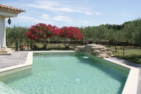 Belle villa provençale avec piscine - Villevieille - Huis