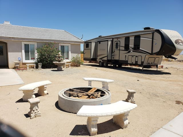House has additional RV Hookups available for your friends to stay with their own rig!