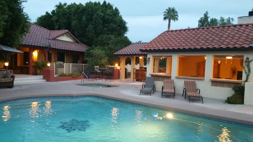 Hacienda one bedroom with great pool