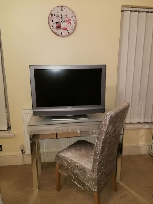Tv, dressing table / work station