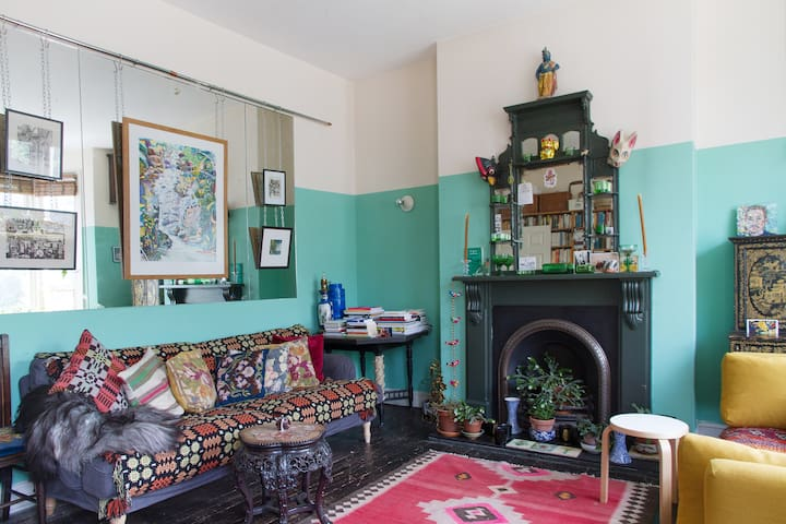 Big sofas and rugs for cosying up in winter
