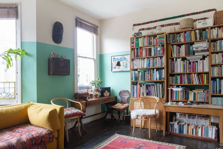 Looking towards library in sitting room