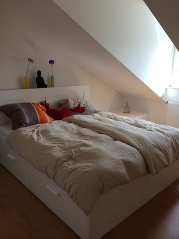 Helle Dachgeschosswohnung - München - Apartment