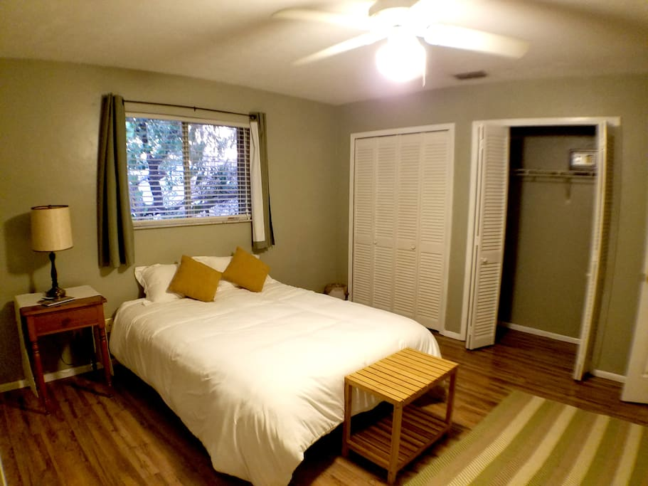 Very comfortable space. Closet includes programmable safe.