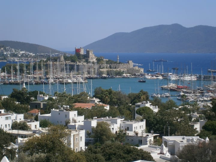 Panoramic View in Downtown Bodrum