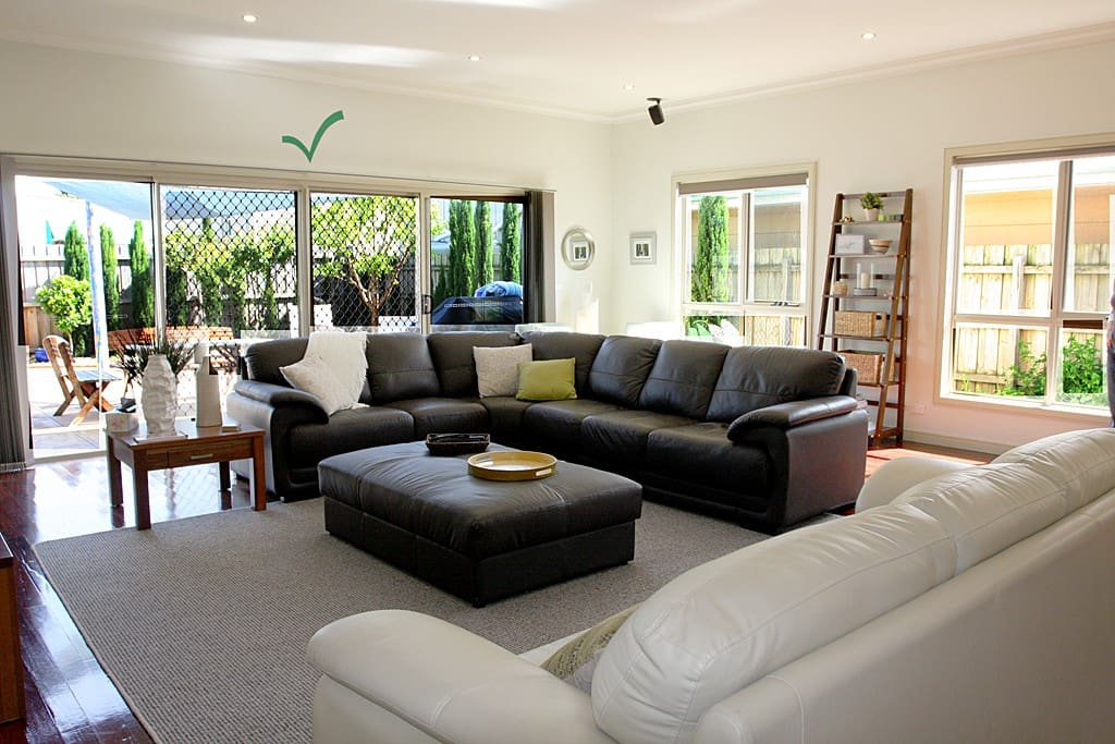Great space for living with loads of natural light!