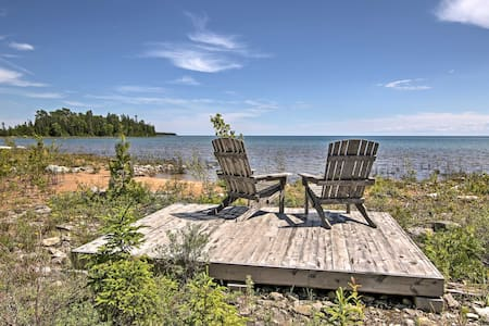 Rustic De Tour Village Cabin w/Deck on Lake Huron!