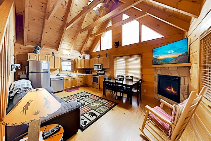 All-Suite Cabin Retreat | Hot Tub, Game Room, Deck