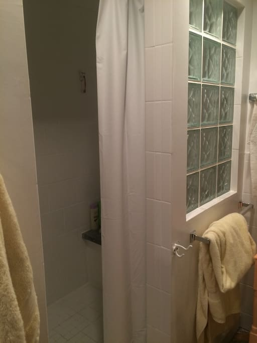 Shower with bench!