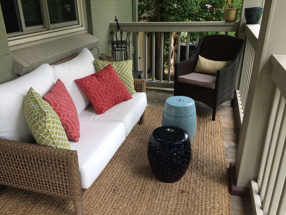 Inviting and comfortable front porch