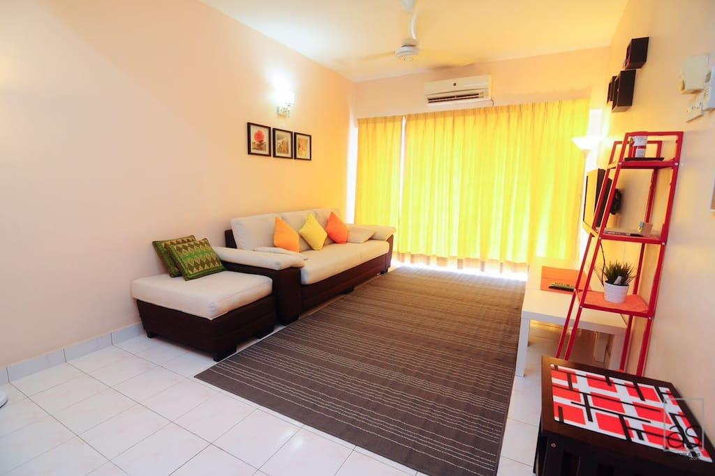 Living room and sliding door