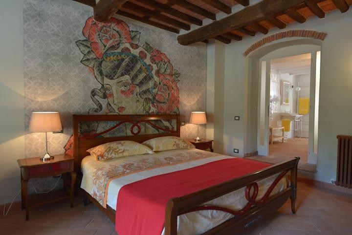 Luxury suite with sauna