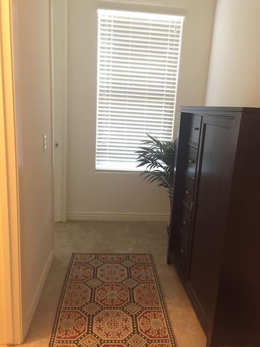 Hallway to bedroom.