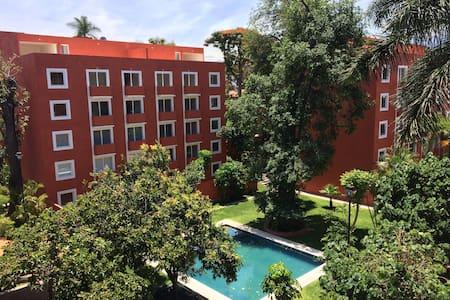 Sunny Condo Downtown Cuernavaca - Cuernavaca - Apartment