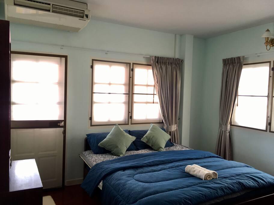 Room 2 has a balcony.