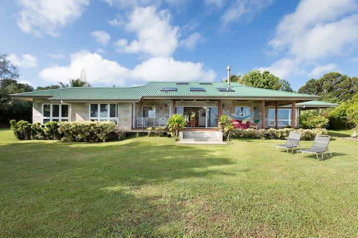Custom Home on 10 acres with sweeping ocean views