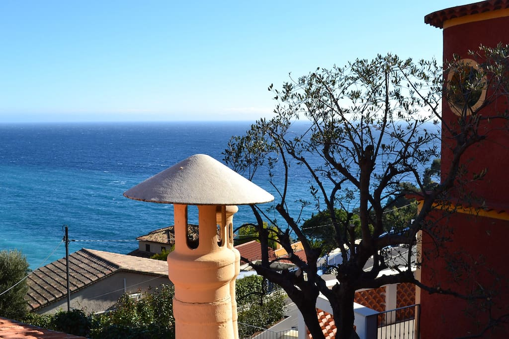 View from the garden: Overlooking the mediterranean and the bay of Eze.