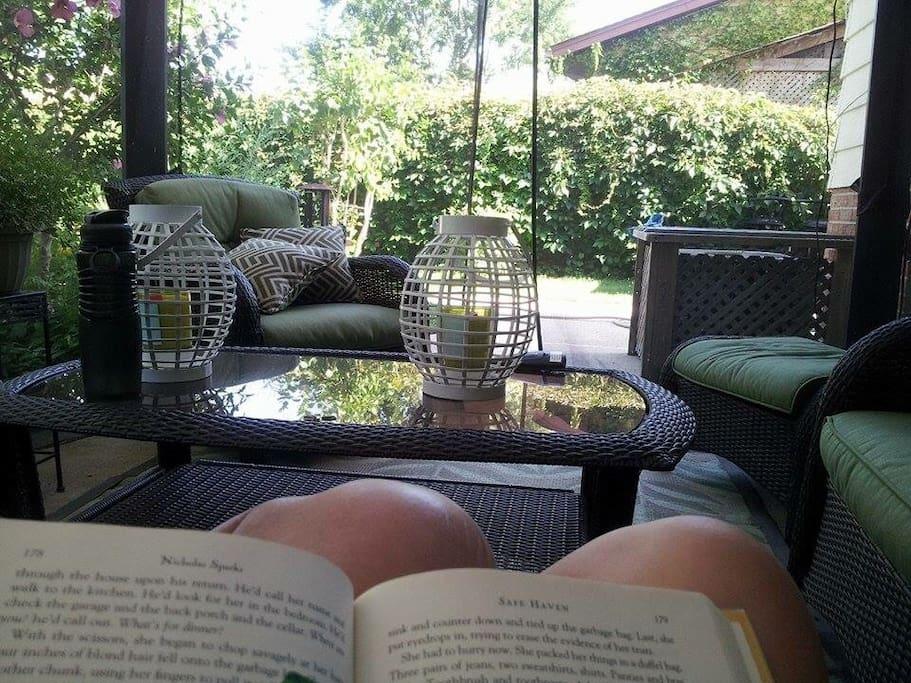 Relax in the gazebo.