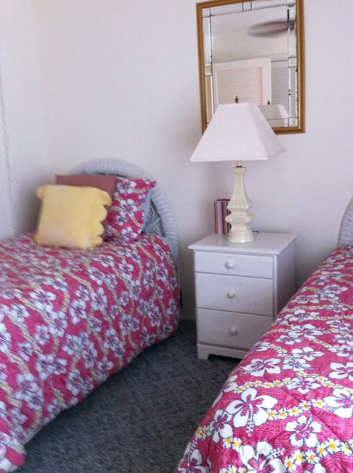 twin beds in guest bed room