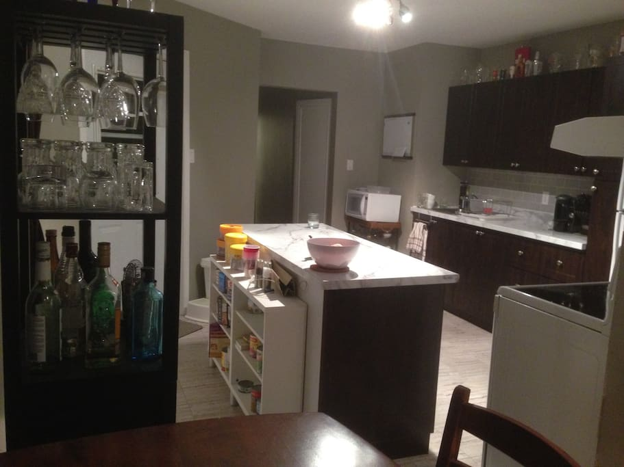 Tall Kitchen with all the cooking tools
