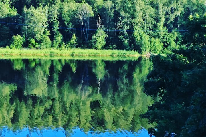 Hus med egen brygga i Kvissleby söder om Sundsvall