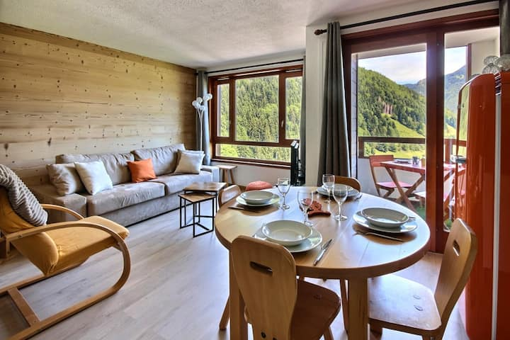 APARTMENT 3* WITH SWIMMING POOL AND WIFI- CENTRE SAINT JEAN D'AULPS SKI RESORT - 5 PEOPLE - DAILLE S16