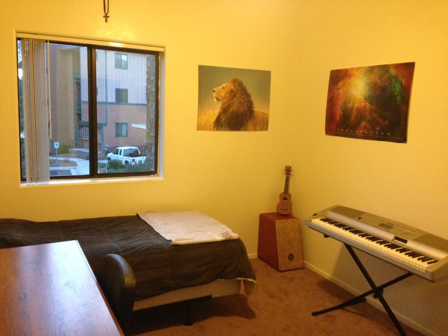 The available room. (Additional Air Mattress is available!)