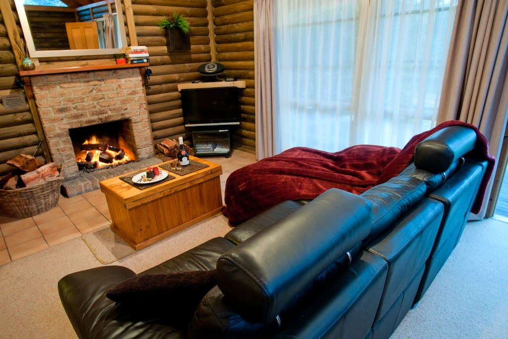 Cottage lounge and open fire