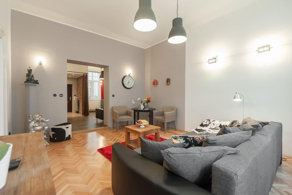 stylisches apt im herzen von prag h user zur miete in. Black Bedroom Furniture Sets. Home Design Ideas