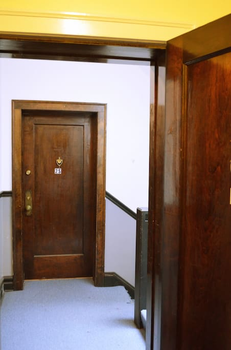 Well-lit entry with quality doorways.
