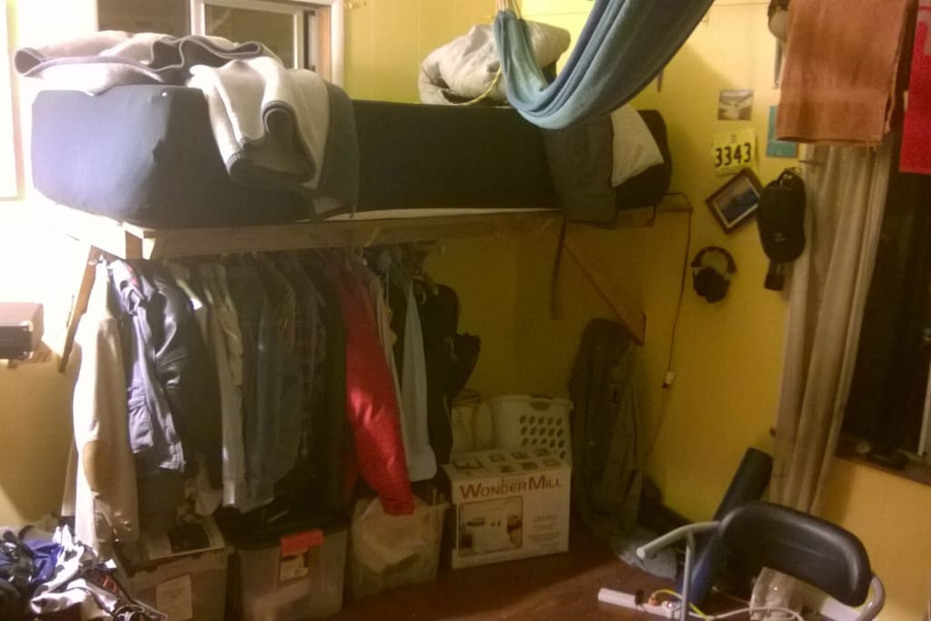 Loft Bed with under story closet