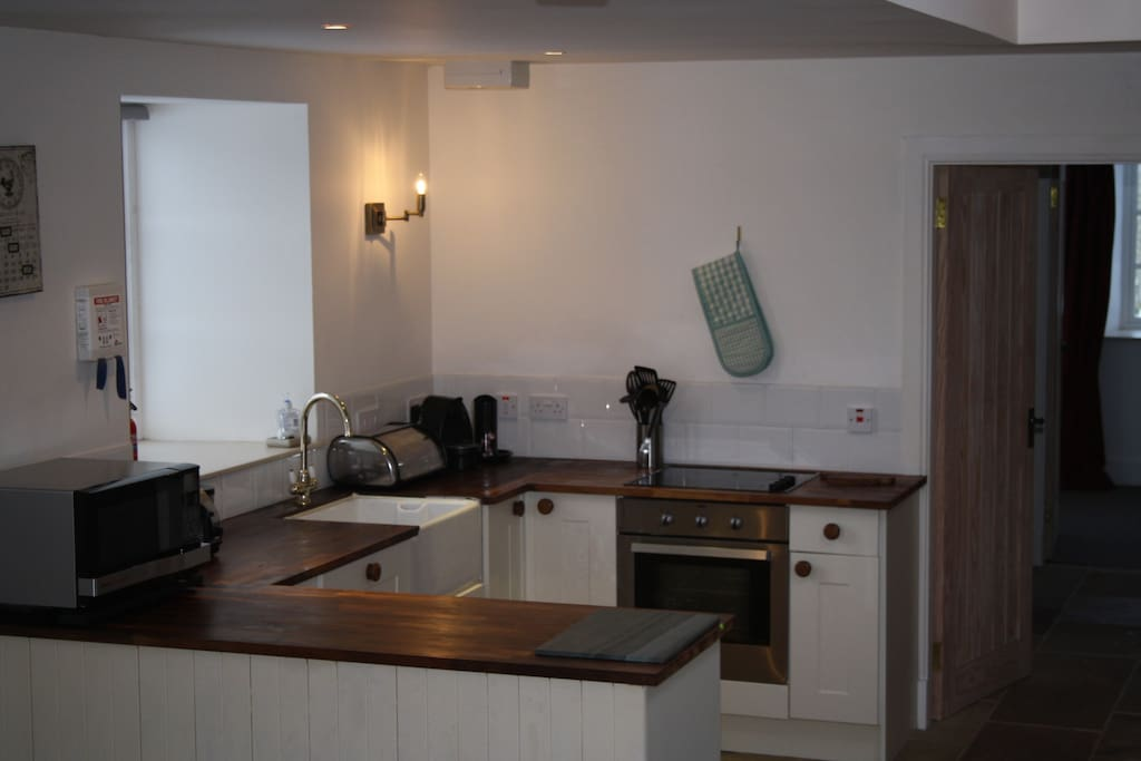 Kitchen open plan to dining and sitting room
