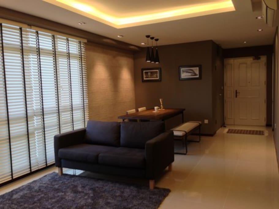 Beautiful living room, spacious