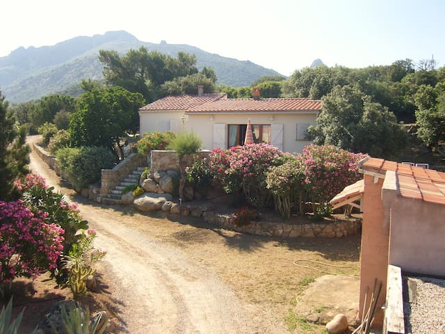Villa 5 p- belle vue mer/montagne - Lumio - Rumah