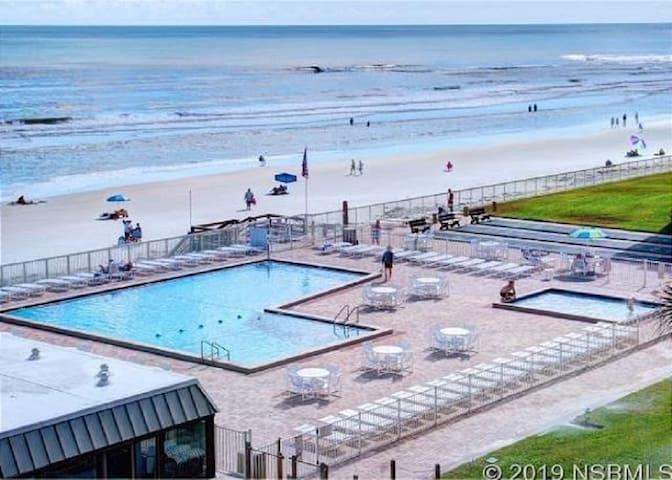 Updated beachfront condo with amazing views