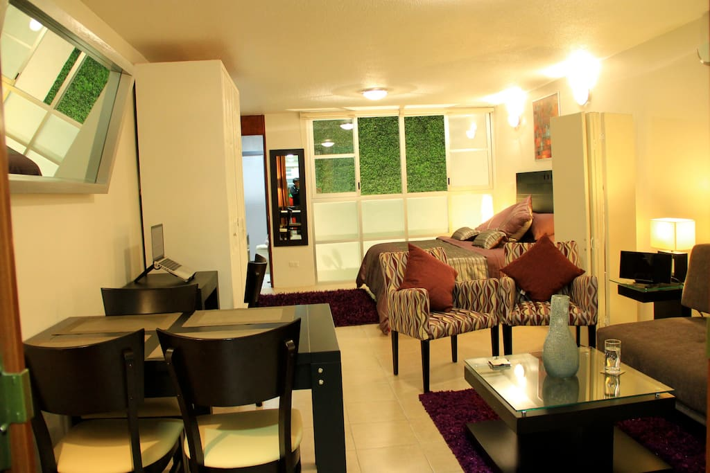 Fully furnished and equipped to make your stay as pleasant as possible
