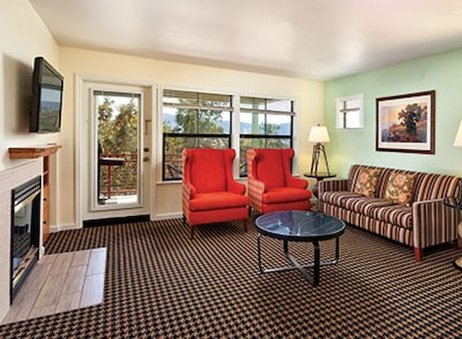 This picture is not unit specific, but does represent the style and decor of other units.